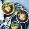 Brunch-æg med bacon og asparges