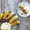 Grillet ananas-brulé med vaniljecreme