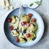Ravioli med parmaskinke, soltørrede tomater og salviesmør