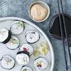 Sushi med rejer og asparges